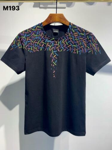 Men/'s T-shirts Summer Top Letter Graffiti Shoulder Printing M193 Marcelo Burlon