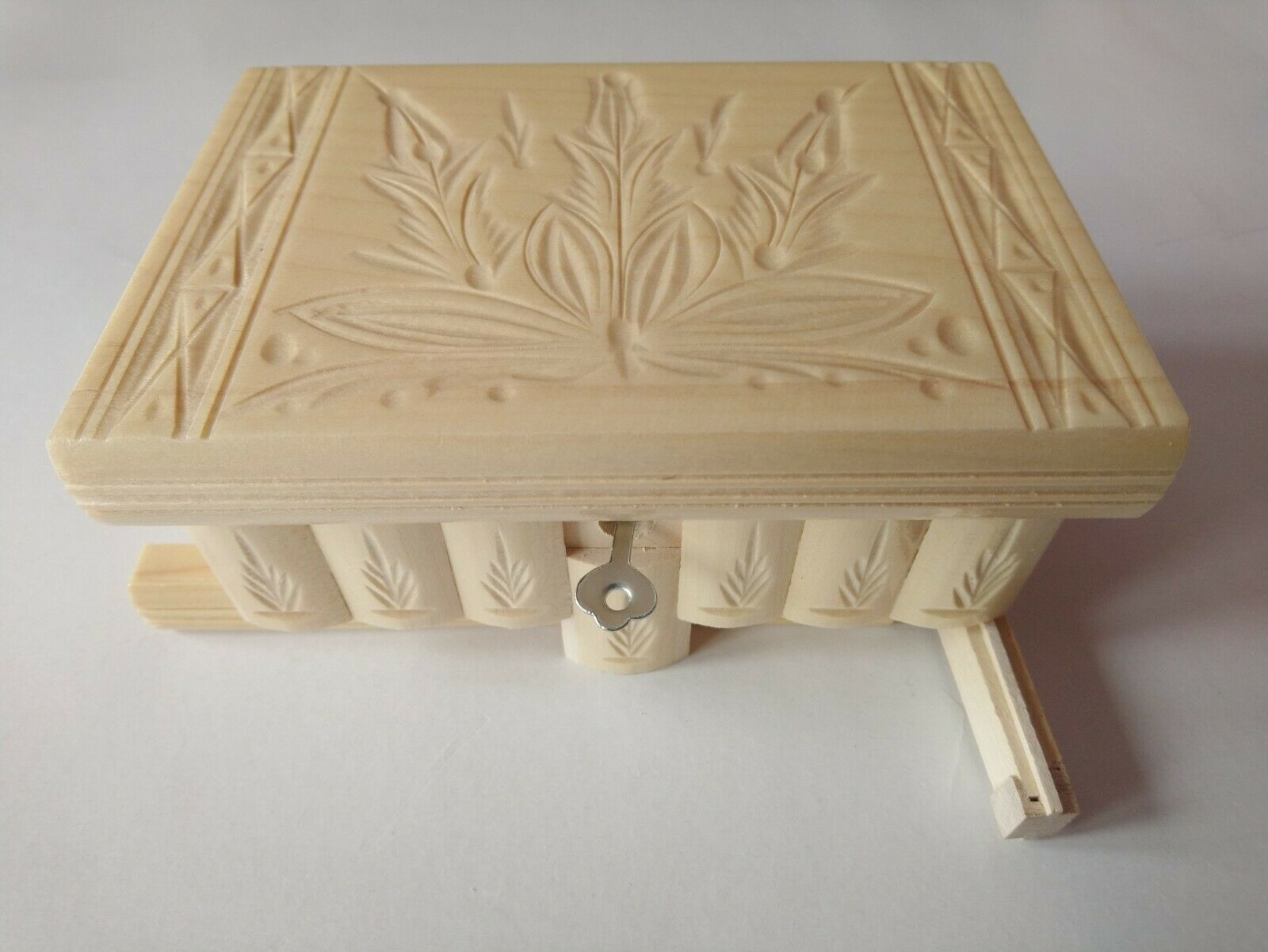 New natural wooden wizard jewelry puzzle magic box brain teaser trinket case