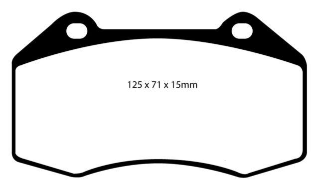 EBC For Chevrolet//Pontiac EBC Redstuff Superstreet Ceramic Pad DP31239C Front