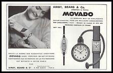 PUBLICITE  MONTRE MOVADO WATCH PHOTO VINTAGE  AD  1930 - 2H