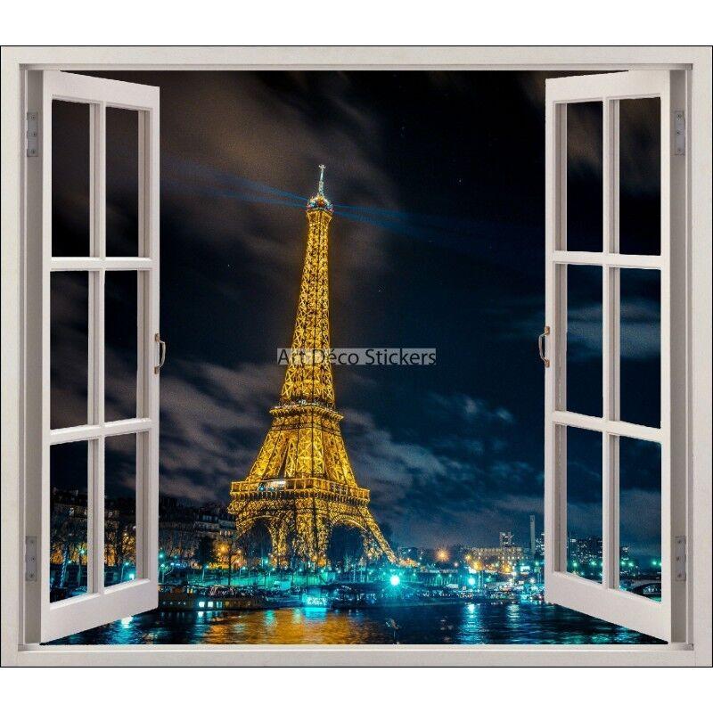 Aufkleber Fenster Deko Eiffelturm Ref 5411 5411