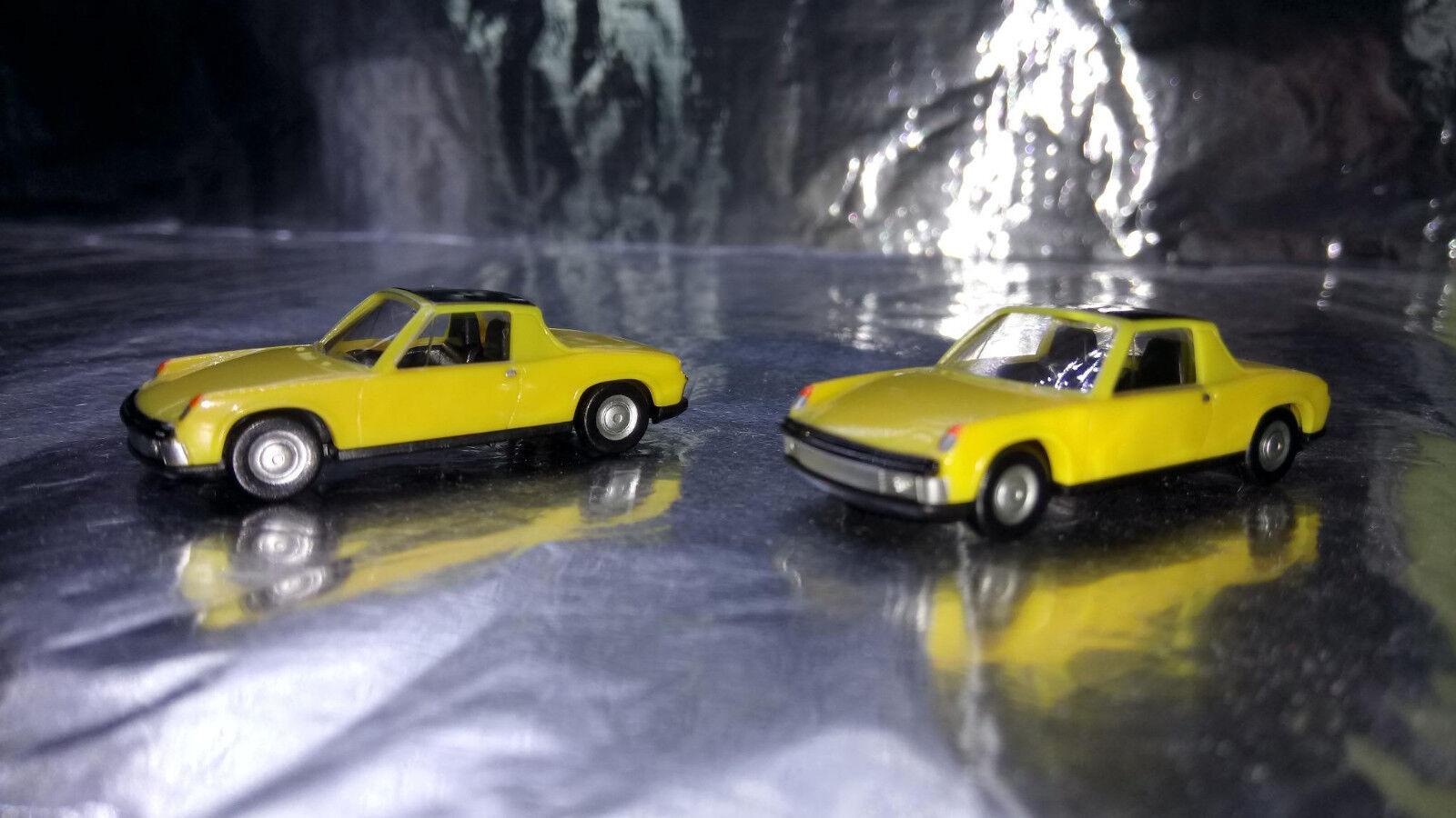 * Herpa Herpa Herpa 451611Y Vw Porsche 914 Amarillo 2 Car Pack 1 87 HO Scale d5de01