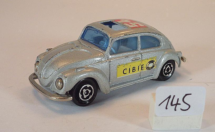 Majorette 1 60 Nº 202 VW VOLKSWAGEN 1302 Berline grismetallic CIBIE  145
