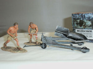 Figarti Dak007 Armée Allemande Afrique Desert Bomb Trolley Métal Jouet Soldat Ensemble