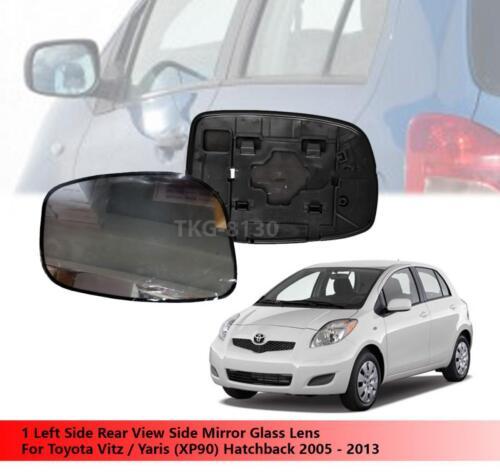 Hatchback 2005-2013 1 Left Side Mirror Glass Lens Use Toyota Vitz//Yaris XP90