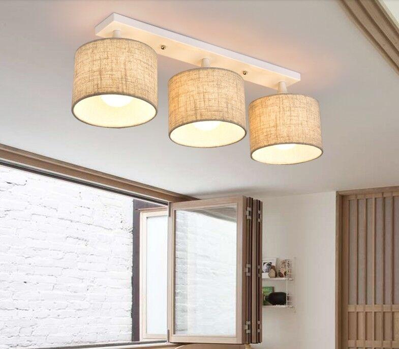 Modern Hemp Farbe Lenght 68CM Metal+Fabric Fixture Lighting Ceiling Light D