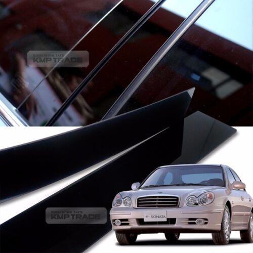 Glossy Black B Pillar Post UV Coating Cover 4P For HYUNDAI 1999-2005 Sonata i34