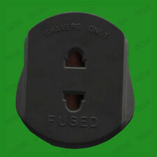Shaver Travel Adaptor Plug For 2 Round Pin to 3 Flat Pin UK Plug 13A Socket