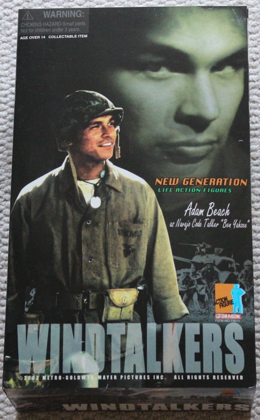 Dragon action figure us wind talkers adam beach 1/6 12'' hot toy ww11 did