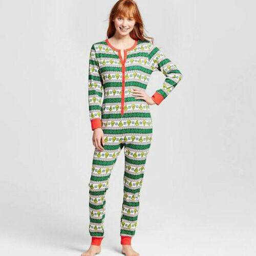1Pieces Family Matching Women Men Kid Christmas Sleepwear All in One Pyjamas UK