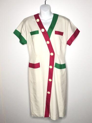 Vintage Givenchy En Plus Shirt Dress Linen Rayon W