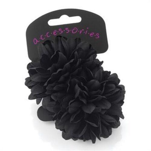 2x FLOWER HAIR ACCESSORY ELASTIC BOBBLES PONIOS HAIRBAND GIRLS SCHOOL BOBBLES UK