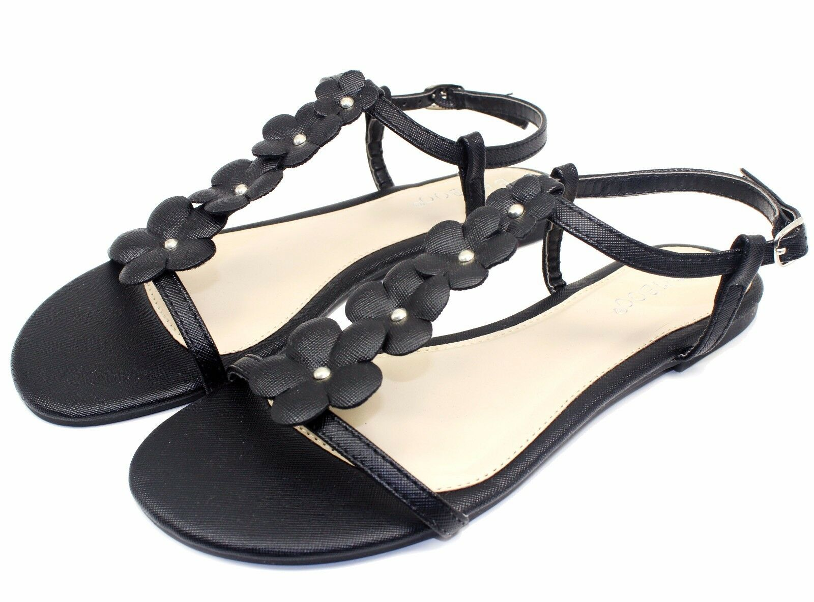 Mr/Ms CALEB-10 New Flats Sandals Buckle Gladiator Party Beach Practical Women Shoes Black 6 Practical Beach and economical Modern design Pick up at the boutique BW654 7502f7