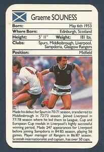 -#285- MIDDLESBROUGH TOPPS-FOOTBALL GRAHAM SOUNESS BLUE BACK 1976