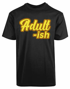 Adult-Ish-New-Men-039-s-Shirt-Smart-Unique-Authentic-Stylish-Short-Sleeves-Cool-Tees