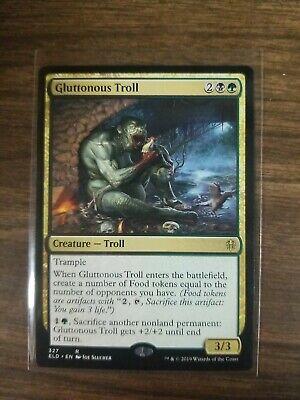MTG Throne of Eldraine ELD Gluttonous Troll x4 M//NM Pack Fresh