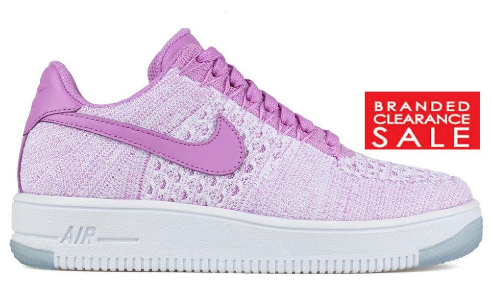 BNIB New Women Nike Air Force Low 1 Low Force Fuschia Flyknit Size UK 3 4uk c75cd3