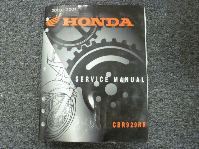 2000 2001 honda cbr929rr motorcycle workshop repair service manual