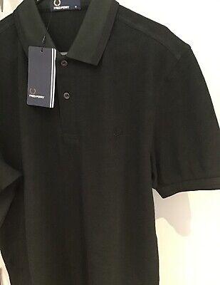 """**: Fred Perry Twin Tipped Polo Shirt (m 40"""" Più Sottile Fit) Caccia Verde/nero Ox-mostra Il Titolo Originale Ampia Fornitura E Consegna Rapida"""