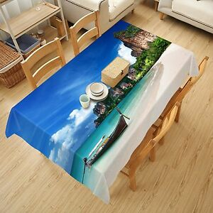 3D-Sea-Boat-313-Tablecloth-Table-Cover-Cloth-Birthday-Party-Event-AJ-WALLPAPER