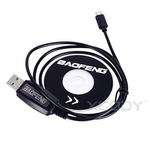 Details about USB Programming Cable With CD For Baofeng BF-T1 Mini Walkie  Talkie Radio New
