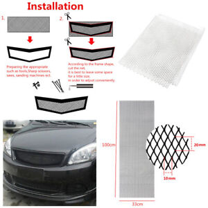 40-039-039-x13-039-039-Silver-Aluminium-Racing-Grille-Mesh-Vent-Car-Tuning-Grill-Universal