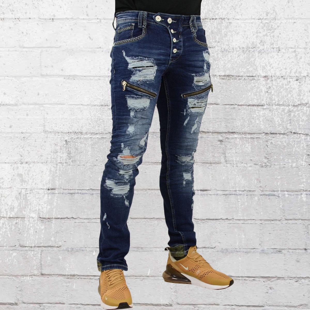 Rusty Neal Uomini Jeans-Pantaloni Nanga blu scuro uomo pantaloni pantaloni pantaloni denim pants 8489b7