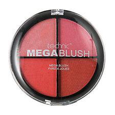 Technic Mega Blush Palette Compact - Blusher Makeup Quad Pink Shimmer Contour