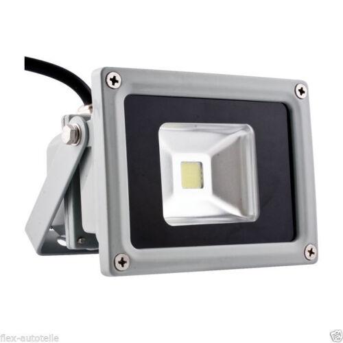 LED ECO Aussenbeleuchtung Baustrahler Haus Hof Garten Fluter 10W 230V 800lm kalt