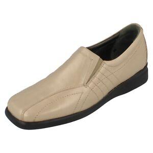 Damen-Equity-Beige-Keilabsatz-Leather-Schuhe-Stil-Sirena-UK-4-5