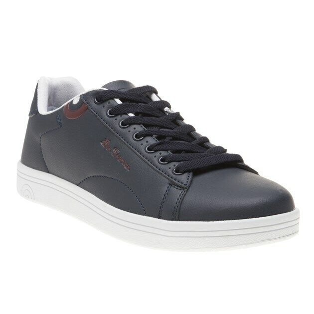 New Mens Ben Sherman Navy Storm Synthetic Trainers Court Lace Up