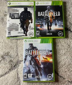 Battlefield Lot:  Bad Company 2,Battlefield 3, & Battlefield 4 (Xbox 360)