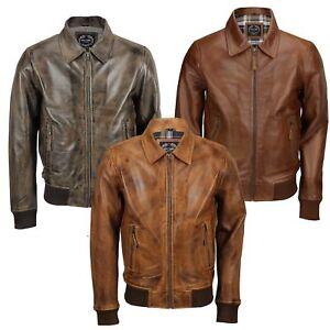 Noir pour homme en cuir véritable style motard classique zippé smart casual veste vintage