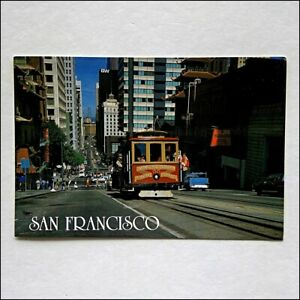 San-Francisco-Cable-Car-No-55-Nob-Hill-1988-Postcard-P435