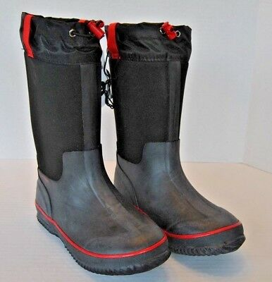 New Cat /& Jack Jace Neoprene Winter Boots Black Toddler Boys Size 7 10 11