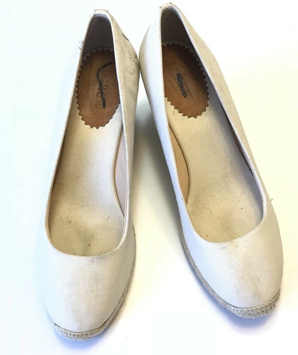 J. Crew shoes Womens 8 Ivory Seville Espadrille Wedge Heels
