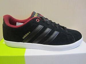 Details zu Adidas Herren Schnürschuh Sneakers DERBY schwarzbordo Leder NEU