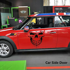 Car Window Tailgate Black Skull Skeleton Hood Decal Rear Vinyl Side Door Sticker