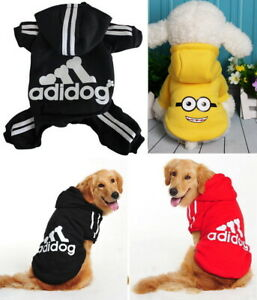 Details about S~9XL Puppy Pet Dog Cat Adidog Apparel Clothes Coat Hoodie Jacket Shirt Jumpsuit