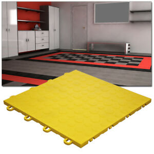 Garage Tiles | Coin Top Yellow - Made In the USA