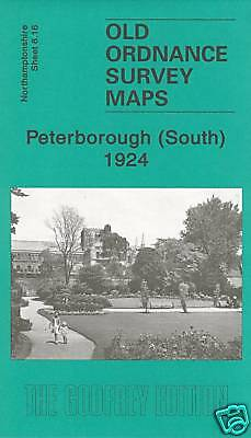 OLD ORDNANCE SURVEY MAPS PETERBOROUGH South 1924 Sheet 8.16 New