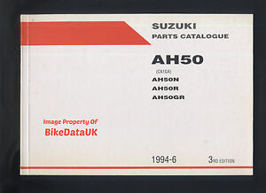 Suzuki-AH50-Address-1992-1994-Parts-List-Catalogue-Book-Manual-AH-50-G-BW60