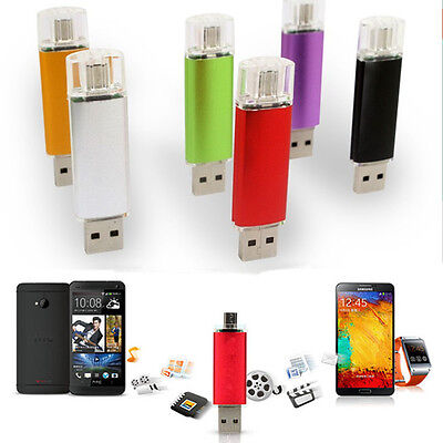 8GB 2 in 1 Micro USB USB Flash Drive For Cell Phone USB Pen Drive Double End