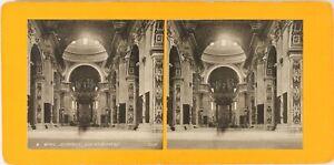 Italia-Roma-Basilique-Saint-Pierre-Foto-Stereo-Vintage-Analogica-PL62L10