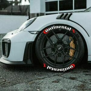 """Permanent Tire Lettering Continental Stickers Letter 1"""" for 13"""" to 20"""" 8 Decal"""