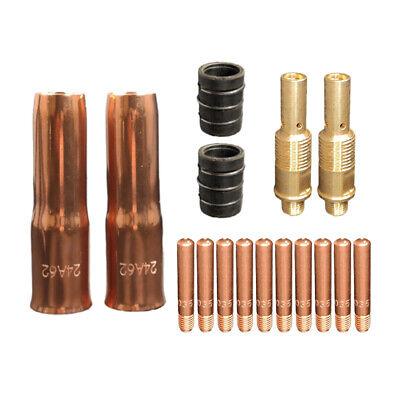 """14 pcs .023/"""" kit MIG Welding Contact Tips Diffuser Nozzle for 100L Tweco mini//#1"""