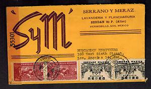 1945 Hermosillo Sina Mexico censored cover to Los angeles CA USA Serrano y MEraz