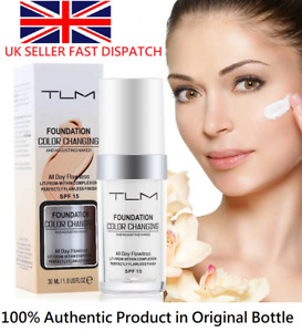 Magic Flawless Colour Color Changing Foundation TLM Makeup Change Skin Tone X2