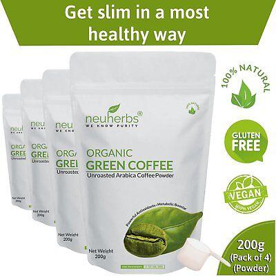 4x Neuherbs Organic Green Coffee Beans For Weight Management 200gm