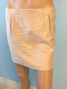 df8e56e7c NWT Authentic Womens Armani Jeans Rose Gold Mini Skirt Metallic IT ...